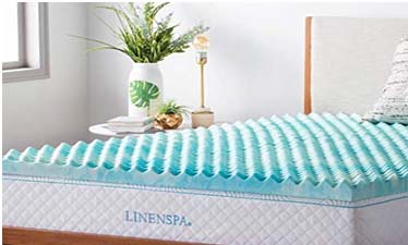 Linenspa 3 Inch Convoluted Gel Swirl Memory Foam Mattress Topper