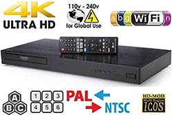 LG 4K Region Free Smart WiFi UHD 4K Ultra HD Blu-ray & DVD Player