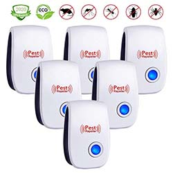Ultrasonic Pest Repeller 6 Pack, Upgraded Electronic Pest Repellent